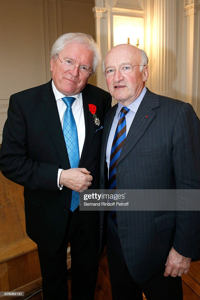 Alain Duault Receives Insignia Of Officer Of The Legion Of Honor In Paris