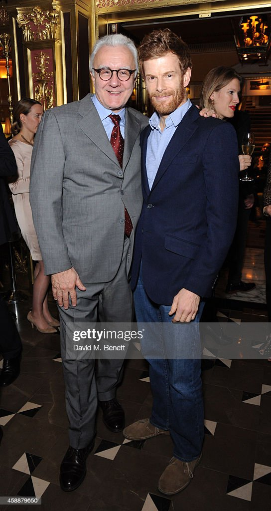 Alain Ducasse and Tom Aikens attend the reopening of The Grill restaurant at The Dorchester on November 12 2014 in London England