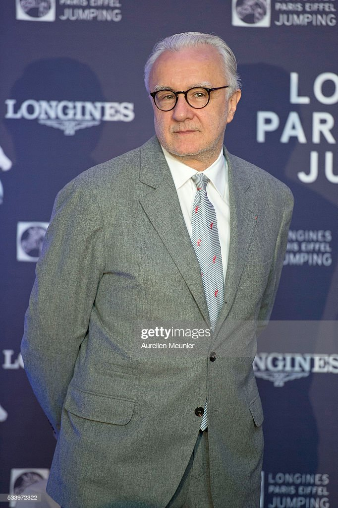 Alain Ducasse attends the 3rd Longines Paris Eiffel Jumping press conference on May 24, 2016 in Paris, France.