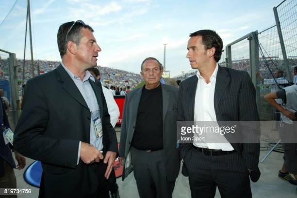 Alain Et Alexandre BOMPARD Marseille / Lyon 3eme journee de Ligue 1 stade Velodrome