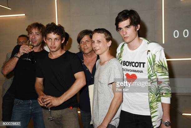 Alain Fabien Delon Ernst Umhauer and guests attend the MX Paris Max Simoens Flagship Opening Show Party as part of Paris Fashion Week on June 22 2017...