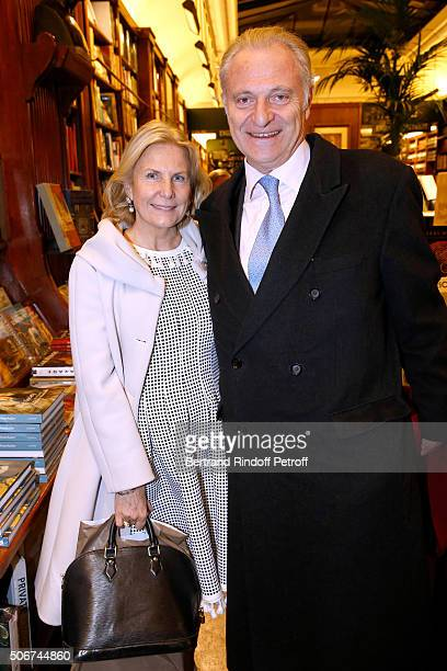 Alain Flammarion and his wife Suzanna attend Princess Gloria Von Thurn und Taxis signs her Book 'The House of Thurn und Taxis' Held at Librairie...