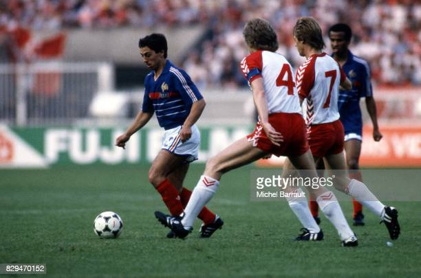 Alain Giresse of France during the European Championship match between France and Denmark at Parc des Princes Paris France on 12th June 1984