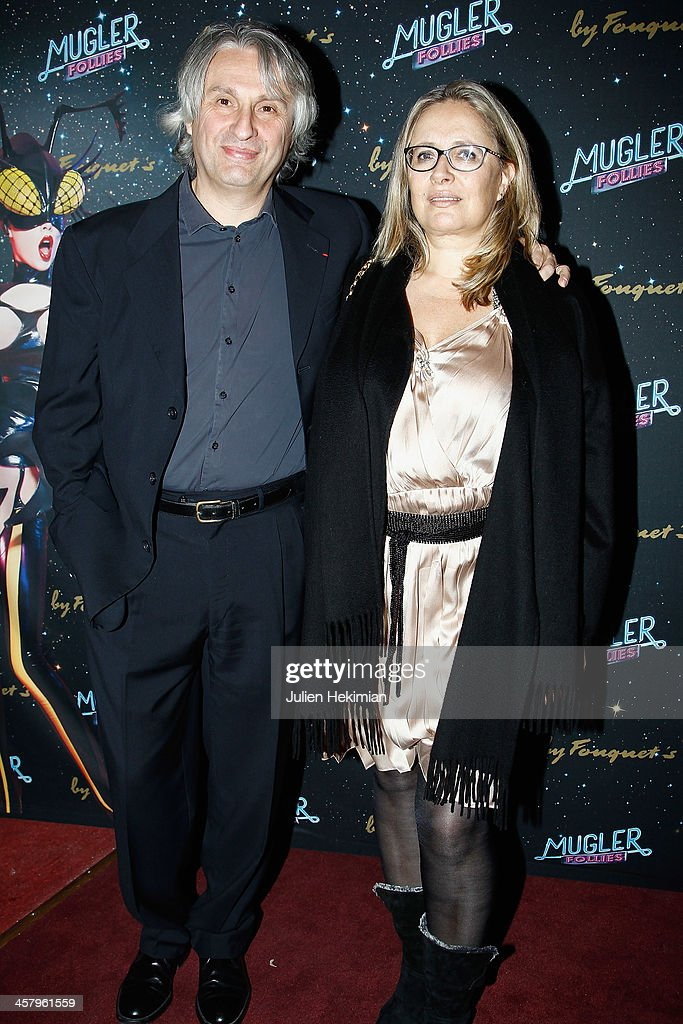 Alain Goldman and his wife attend 'Mugler Follies' Paris New Variety Show - Premiere on December 19, 2013 in Paris, France.