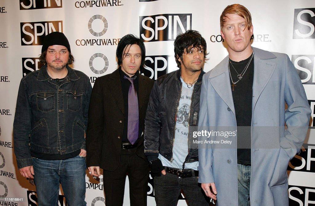 Alain Johannes, Troy Van Leeuwen, Joey Castillo and Josh Homme of Queens of the Stone Age