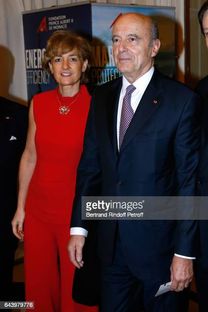 Alain Juppe and his wife Isabelle attend the celebration of the 10th Anniversary of the 'Fondation Prince Albert II De Monaco' at Salle Gaveau on...
