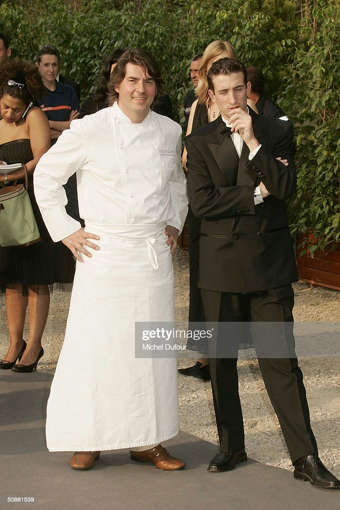 Alain Llorca (L) arrives at 'Cinema Against AIDS 2004', the 11th annual event in aid of amfAR (American Foundation for AIDS Research) at Le Moulin de Mougins at the 57th Cannes Film Festival on May 20, 2004 in Cannes, France.