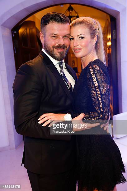 Alain Midzic and Eva Maria Ringer attend the Felix Burda Award 2014 at Hotel Adlon on April 06 2014 in Berlin Germany