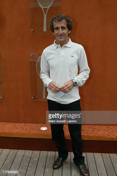Alain Prost arrives in the 'Village' the VIP area of the French Open at Roland Garros arena in Paris France on June 7 2007