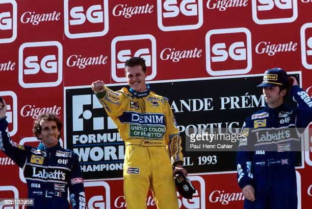Alain Prost Michael Schumacher Damon Hill Grand Prix of Portugal Estoril 26 September 1993