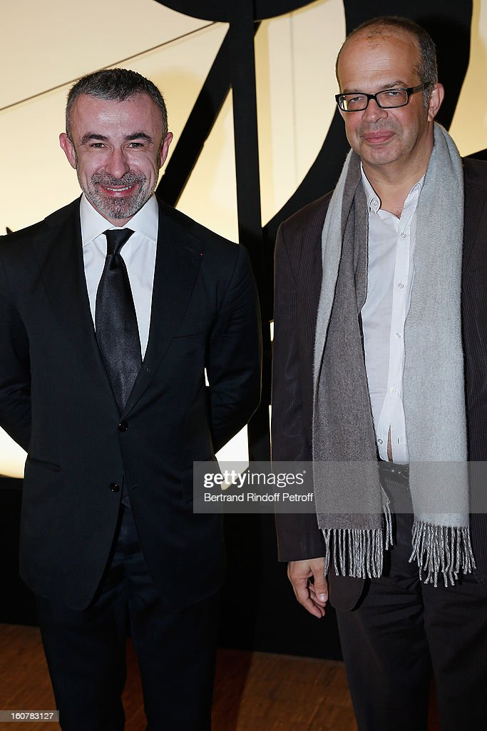 Alain Seban, President of the Centre Pompidou Museum (L), and David Kessler, Media and Culture advisor to French President Francois Hollande, attend the 8th Annual Dinner of the 'Societe Des Amis Du Musee D'Art Moderne' at Centre Pompidou on February 5, 2013 in Paris, France.