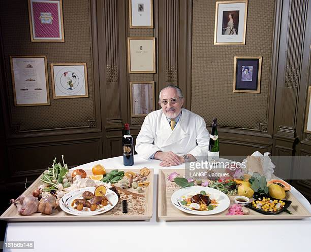 Alain Senderens Head Of Restaurant Lucas Carton Place De La Madeleine In Paris L'accord mets et vins selon Alain SENDERENS du restaurant Lucas Carton...