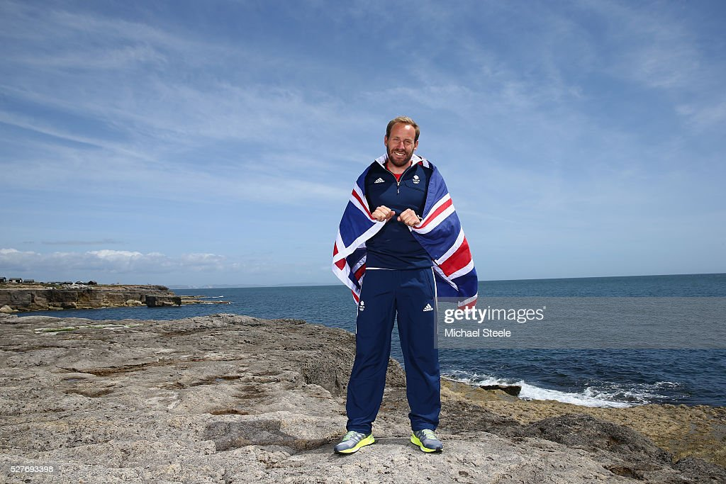 Alain Sign (49er Men's Class) of Team GB poses during a Team GB Sailing Announcement for the Rio 2016 Olympic Games at Portland Bill on May 3, 2016 in Weymouth, England.