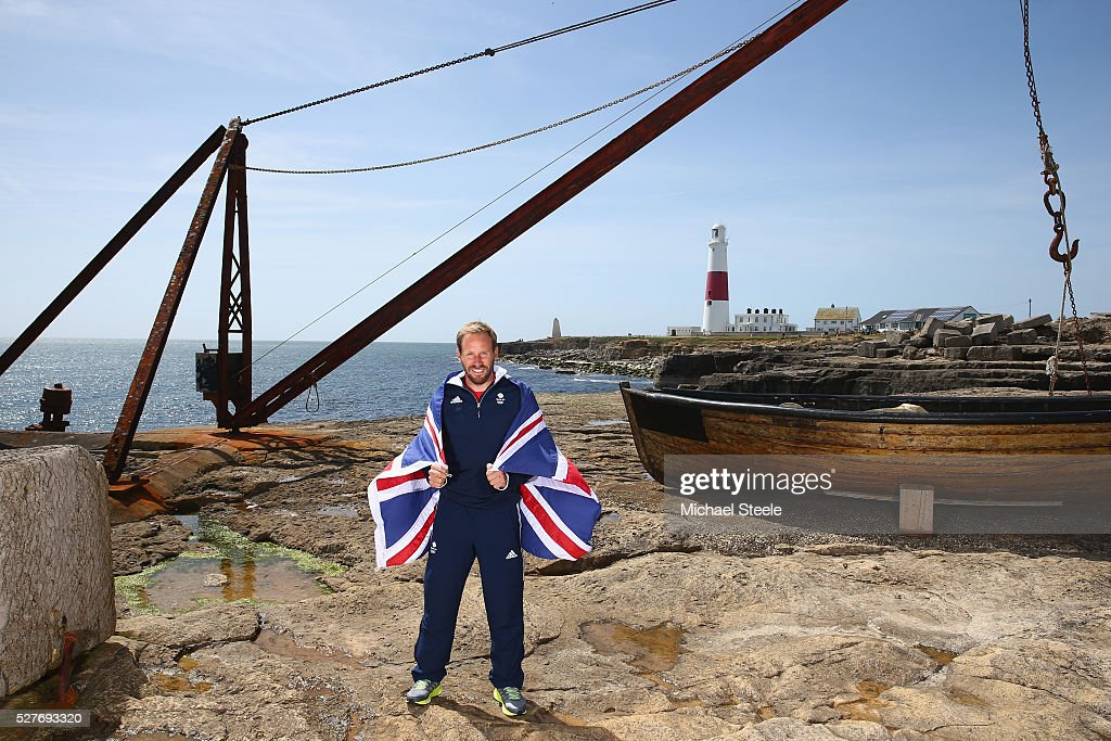 Alain Sign of the 49er Men's Class and Team GB poses during a Team GB Sailing Announcement for the Rio 2016 Olympic Games at Portland Bill on May 3, 2016 in Weymouth, England.