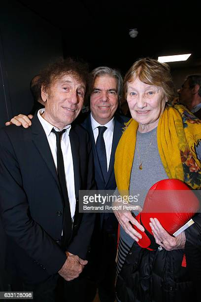 Alain Souchon Chairman of the Scientific Committee of the Association for Research on Alzheimer's Professor Bruno Dubois and Marisa BruniTedeschi...