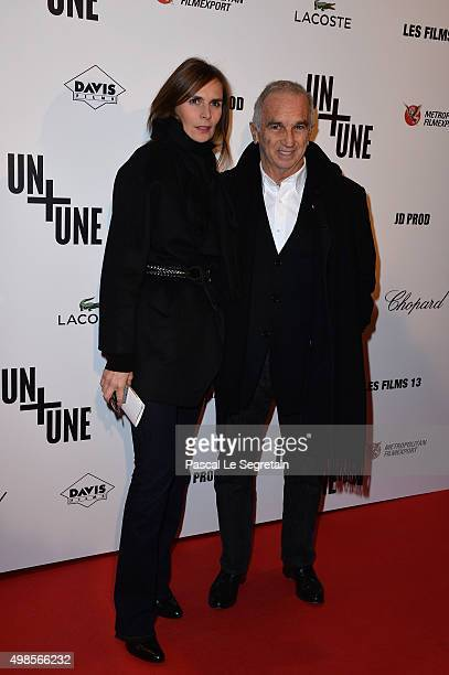 Alain Terzian and his wife Brune de Margerie attend The 'Un Une' Paris Premiere At Cinema UGC Normandie on November 23 2015 in Paris France