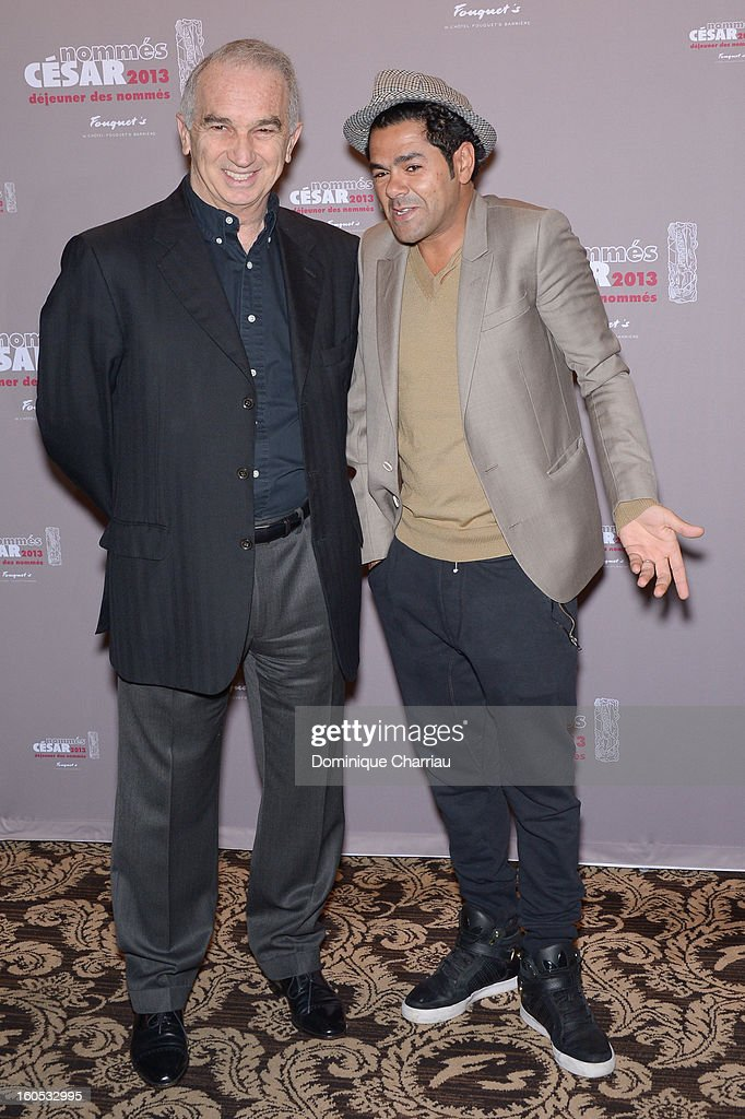 Alain Terzian, President of Academie des Arts et Techniques du Cinéma and Jamel Debbouze, President of the 38th Cesar ceremony attend the Cesar 2013 Nominee Lunch at Le Fouquet's on February 2, 2013 in Paris, France.