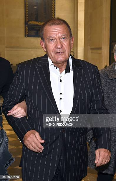 Alain Thurin former nurse of French L'Oreal heiress leaves the courthouse in Bordeaux western France on October 6 after the trial of individuals...