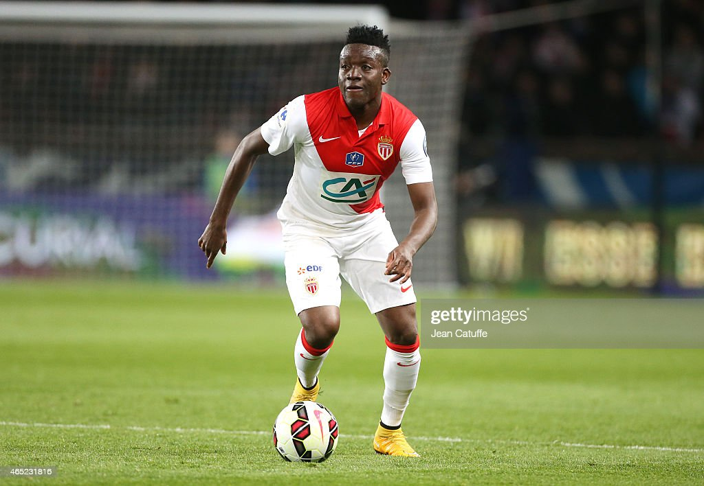 <a gi-track='captionPersonalityLinkClicked' href=/galleries/search?phrase=Alain+Traore&family=editorial&specificpeople=4146262 ng-click='$event.stopPropagation()'>Alain Traore</a> of Monaco in action during the French Cup match between Paris Saint-Germain FC (PSG) and AS Monaco FC at Parc des Princes stadium on March 4, 2015 in Paris, France.