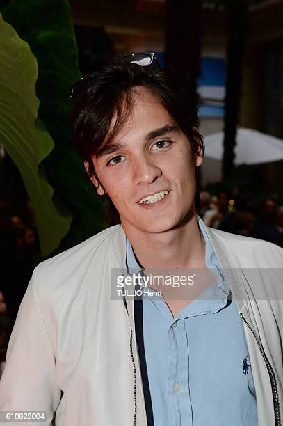 AlainFabien Delon poses for Paris Match in the brazilian party at the Hotel Prince de Galles on june 29 2016 in Paris France