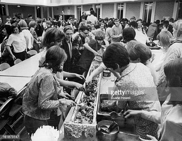 FEB 16 1967 FEB 21 1967 FEB 22 1967 Alameda Club Campus Party Draws Crowd Featuring a monstrous banana split the Alameda Chapter of Campus Life Clubs...