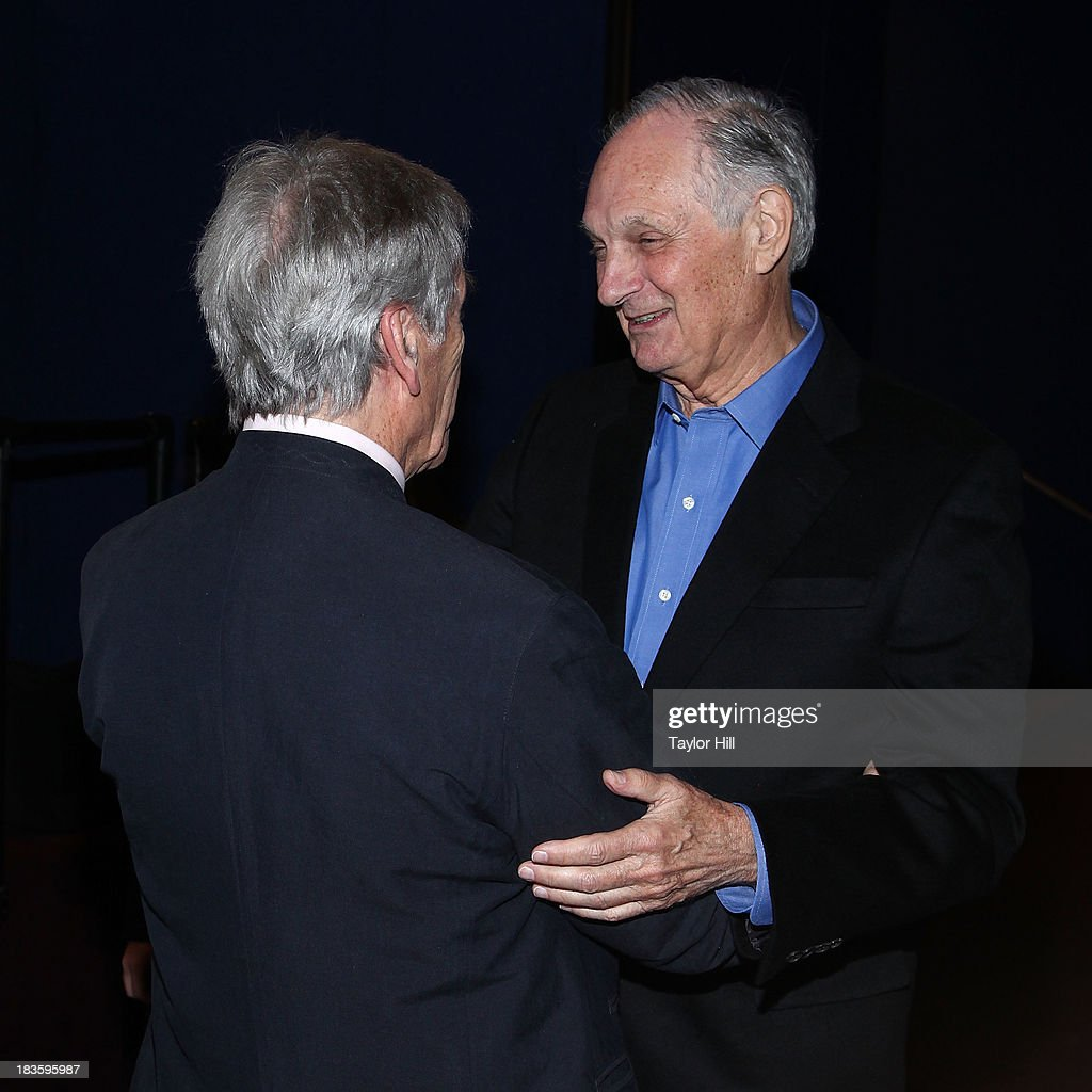 <a gi-track='captionPersonalityLinkClicked' href=/galleries/search?phrase=Alan+Alda&family=editorial&specificpeople=206416 ng-click='$event.stopPropagation()'>Alan Alda</a> and <a gi-track='captionPersonalityLinkClicked' href=/galleries/search?phrase=Costa-Gavras&family=editorial&specificpeople=213531 ng-click='$event.stopPropagation()'>Costa-Gavras</a> attend the 'Capital' screening at FIAF on October 7, 2013 in New York City.