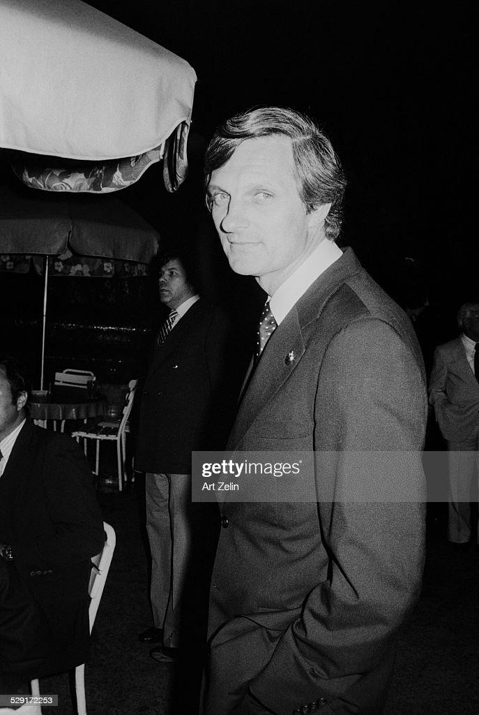 Alan Alda at an outside event circa 1970 New York