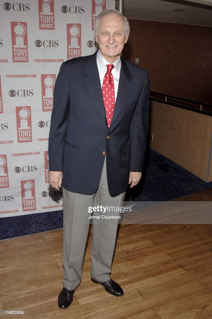 Alan Alda during 59th Annual Tony Awards 'Meet The Nominees' Press Reception at The View at The Marriot Marquis in New York City New York United...