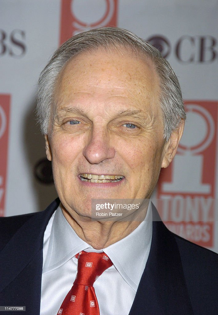 <a gi-track='captionPersonalityLinkClicked' href=/galleries/search?phrase=Alan+Alda&family=editorial&specificpeople=206416 ng-click='$event.stopPropagation()'>Alan Alda</a> during 59th Annual Tony Awards Nomination Press Conference at Marriott Marquis in New York City, New York, United States.