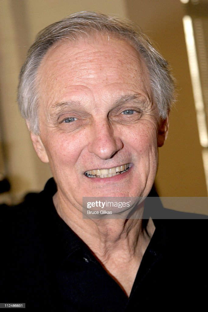 Alan Alda during 'Glengarry Glen Ross' Meet the Cast Event March 15 2005 at Manhattan Theater Club Rehearsal Studios in New York City New York United...