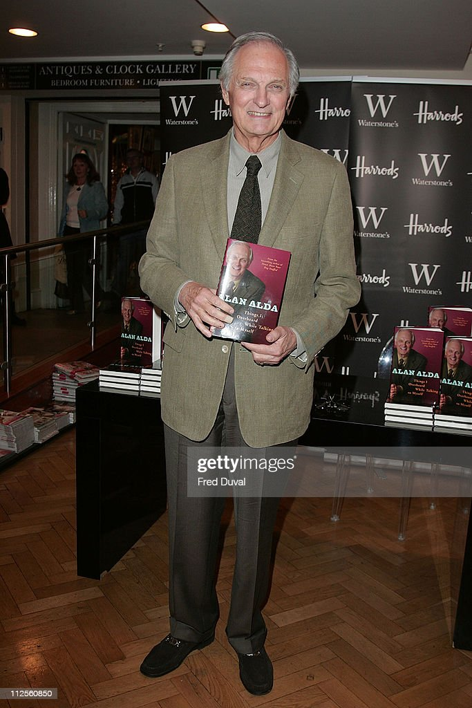 Alan Alda poses during his book launch held at Waterstones in Harrod's on October 4 2007 in London England