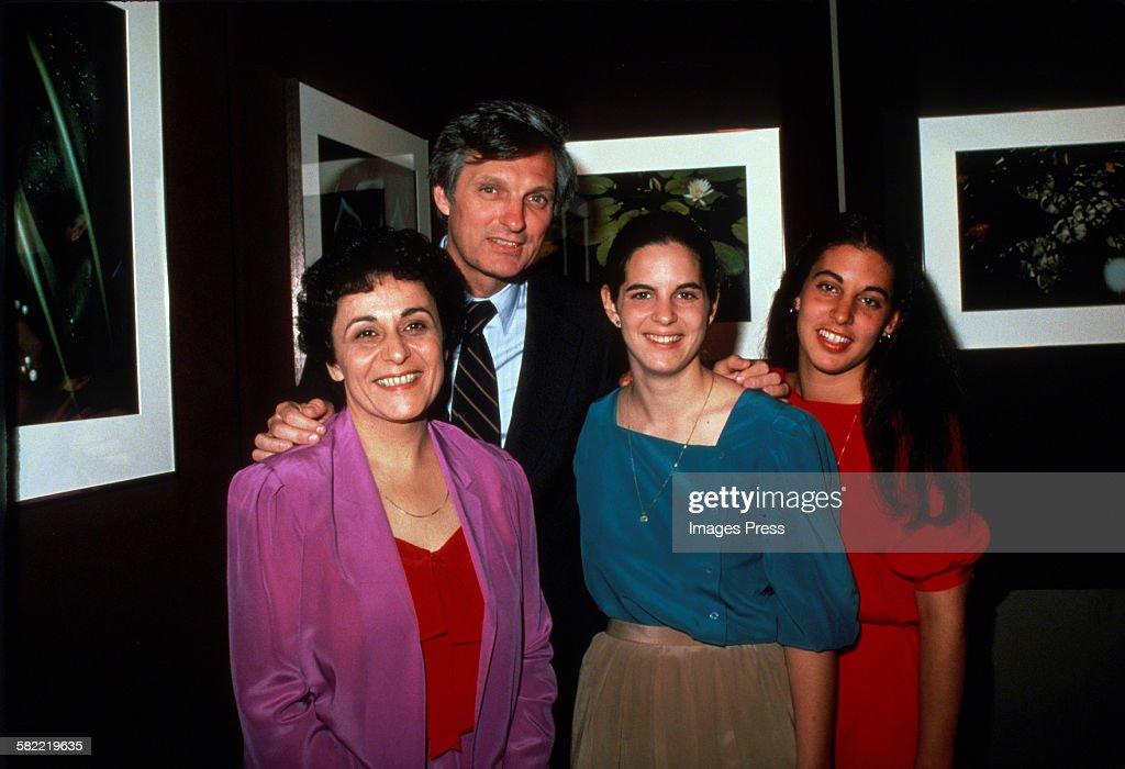 Alan Alda wife Arlene and daughters circa 1981 in New York City