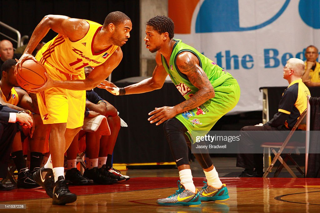 <a gi-track='captionPersonalityLinkClicked' href=/galleries/search?phrase=Alan+Anderson&family=editorial&specificpeople=3945355 ng-click='$event.stopPropagation()'>Alan Anderson</a> #11 of the Canton Charge stares down the Iowa Energy in an NBA D-League game on March 16, 2012 at the Wells Fargo Arena in Des Moines, Iowa.