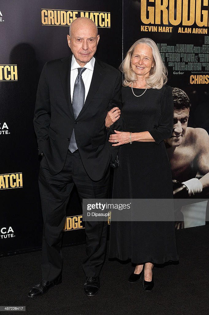 Alan Arkin and wife Suzanne Newlander Arkin attend the 'Grudge Match' screening benefiting the Tribeca Film Institute at the Ziegfeld Theater on...