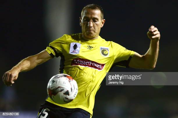 Alan Baro of the Mariners during the FFA Cup round of 32 match between Blacktown City and the Central Coast Mariners at Lilys Football Centre on...