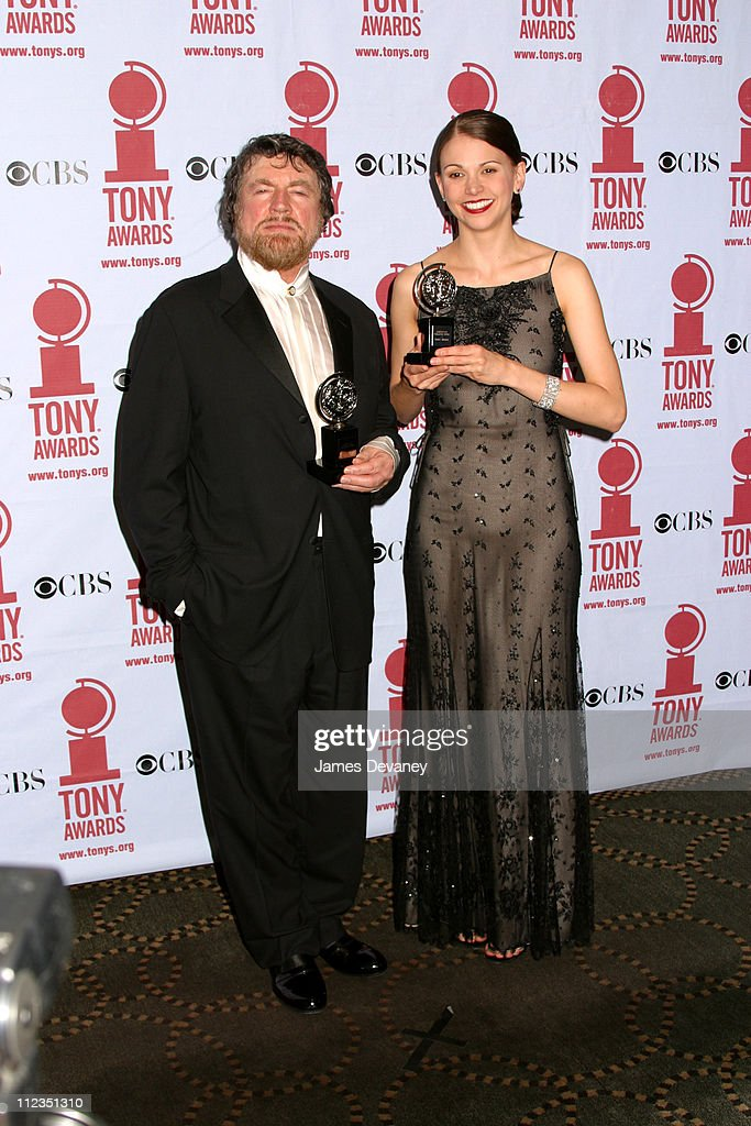 Alan Bates & Sutton Foster during 56th Annual Tony Awards - Press Room at American Theater at Radio City Music Hall in New York City, New York, United States.