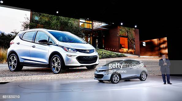 Alan Batey General Motors President of North America talks about the allelectric Chevrolet Bolt EV which won the Car of the Year Award at the 2017...