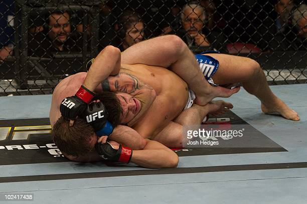 Alan Belcher def Patrick Cote Submission 325 round 2 during UFC 113 at Bell Centre on May 8 2010 in Montreal Quebec Canada