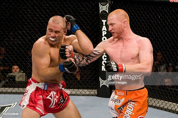 Alan Belcher fights Ed Herman during UFC Fight Night 15 at Omaha Civic Auditorium on September 17 2008 in Omaha Nebraska