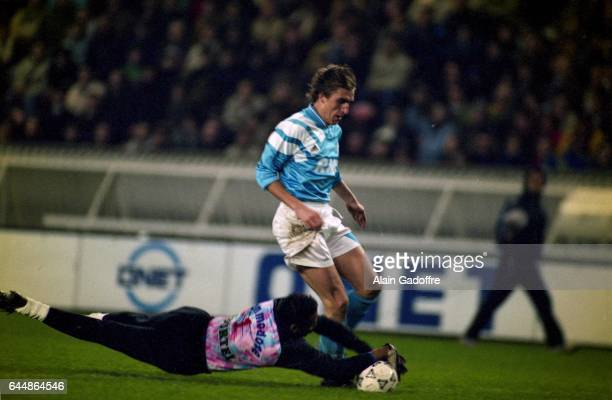 Alan Boksic / Bernard Lama Paris Saint Germain / Marseille Division 1 Photo Alain Gadoffre / Icon Sport