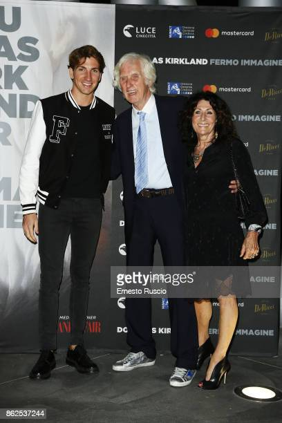 Alan Cappelli Douglas Kirkland and Franoise Kirkland attend 'Douglas Kirkland Fermo Immagine' exhibition opening at MAXXI Museum on October 17 2017...