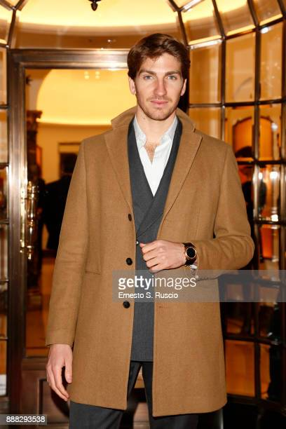 Alan Cappelli Goetz attends Christmas Lights At Bvlgari Boutique Rome on December 7 2017 in Rome Italy