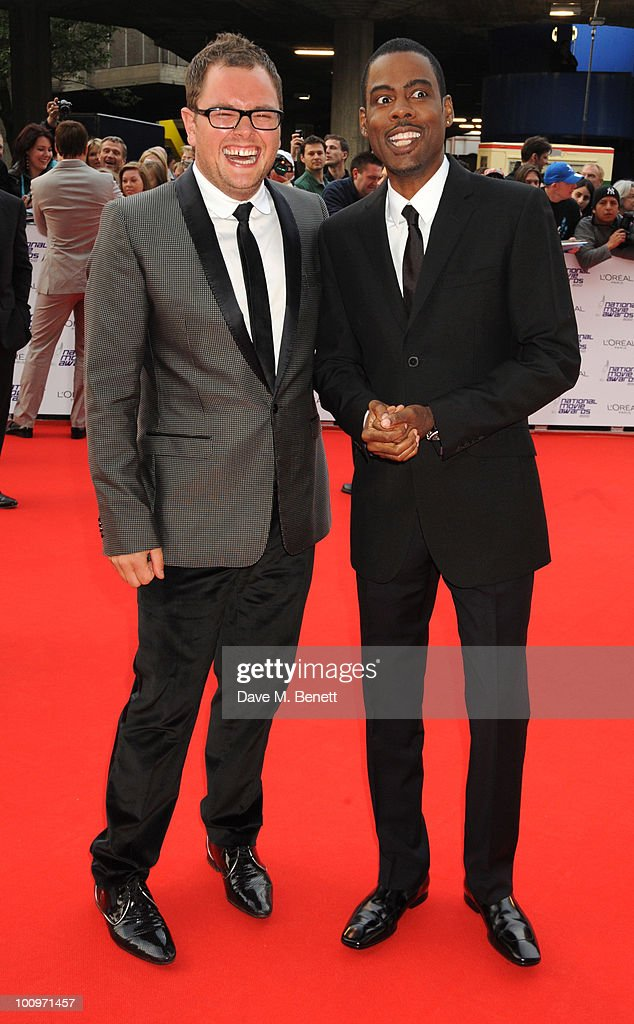 Alan Carr and Chris Rock arrive at the National Movie Awards at the Royal Festival Hall on May 26 2010 in London England