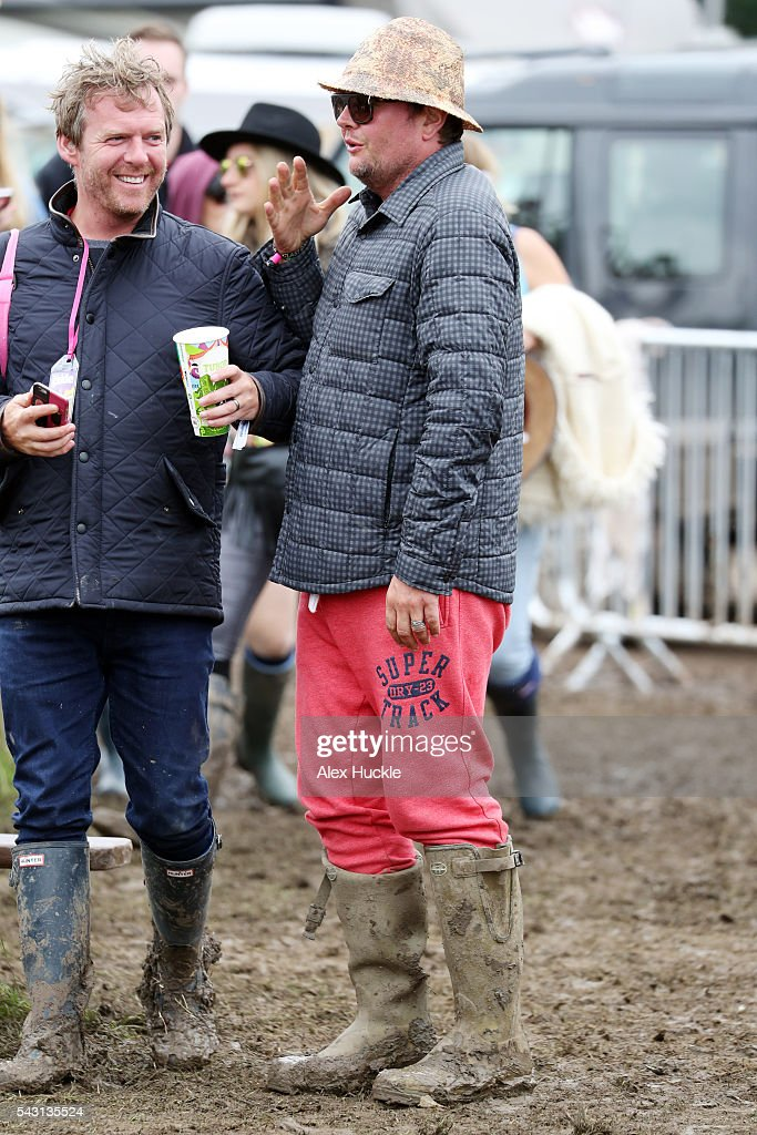 Alan Carr attends the Glastonbury Festival at Worthy Farm, Pilton on June 26, 2016 in Glastonbury, England.