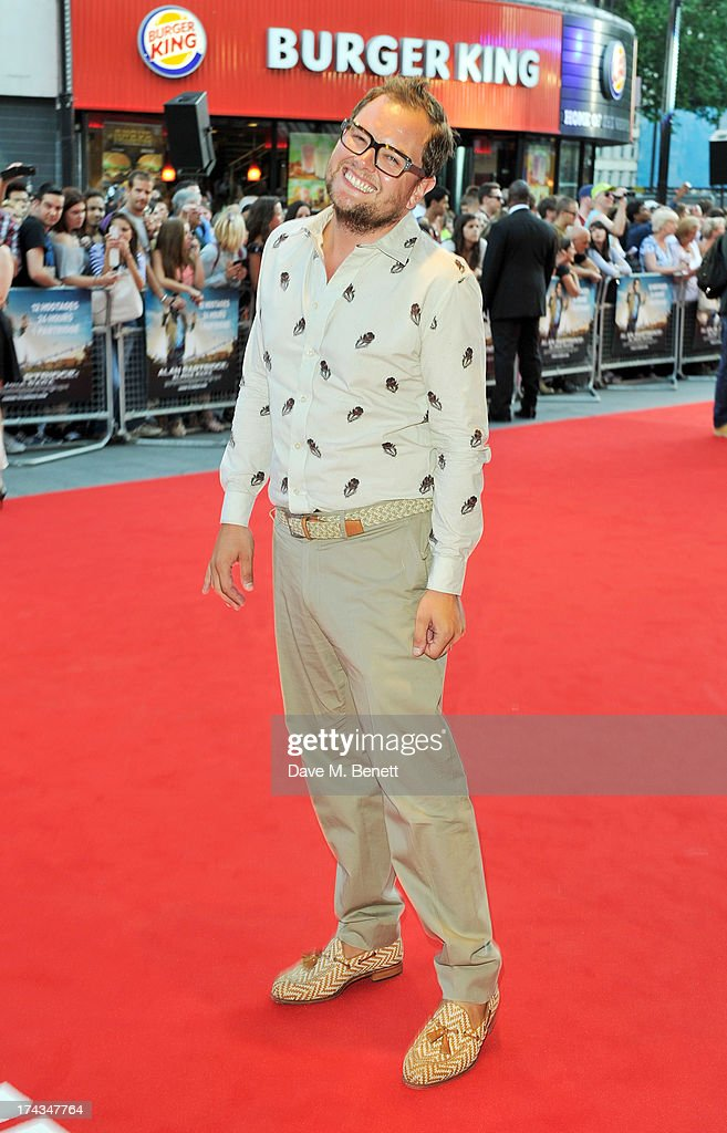 Alan Carr attends the London Premiere of 'Alan Partidge: Alpha Papa' at Vue Leicester Square on July 24, 2013 in London, England.