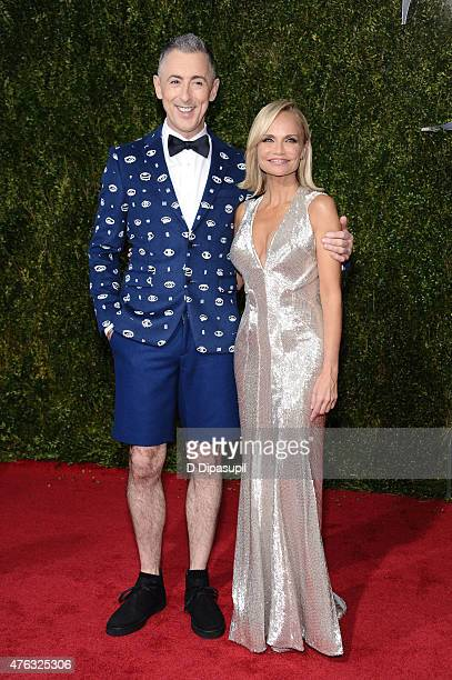 Alan Cumming and Kristin Chenoweth attend American Theatre Wing's 69th Annual Tony Awards at Radio City Music Hall on June 7 2015 in New York City