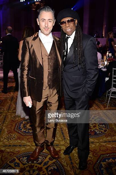 Alan Cumming and Nile Rodgers attend the 2014 amfAR New York Gala at Cipriani Wall Street on February 5 2014 in New York City