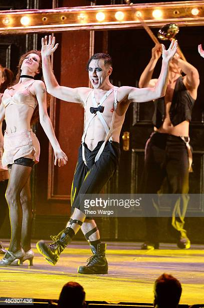 Alan Cumming and the cast of 'Cabaret' perform onstage during the 68th Annual Tony Awards at Radio City Music Hall on June 8 2014 in New York City