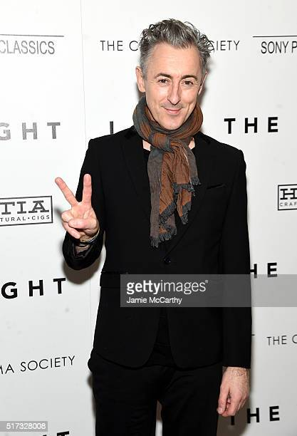 Alan Cumming attends The Cinema Society With Hestia StGermain Host a Screening of Sony Pictures Classics' 'I Saw the Light' at Metrograph on March 24...