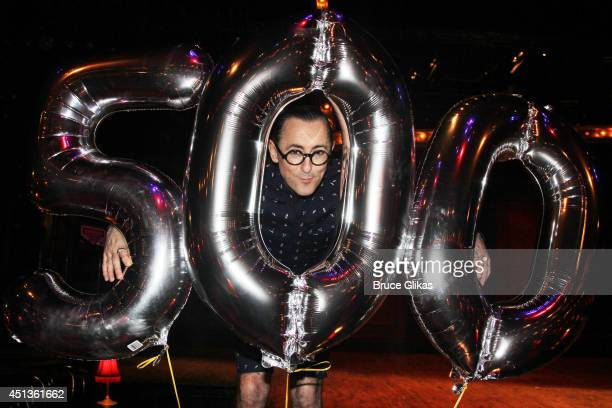 Alan Cumming celebrates his Tony Winning 500 1/2 performances as 'The Emcee' in 'CABARET' at Studio 54 on June 27 2014 in New York City on June 27...